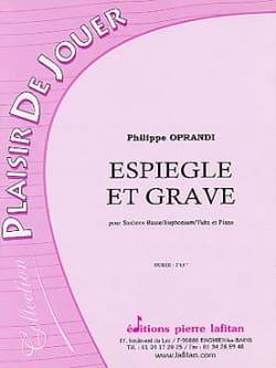 Espiègle et grave Philippe Oprandi Partition Tuba - laflutedepan
