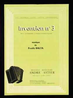 Invention n°3 - Freddy Balta - Partition - laflutedepan.com