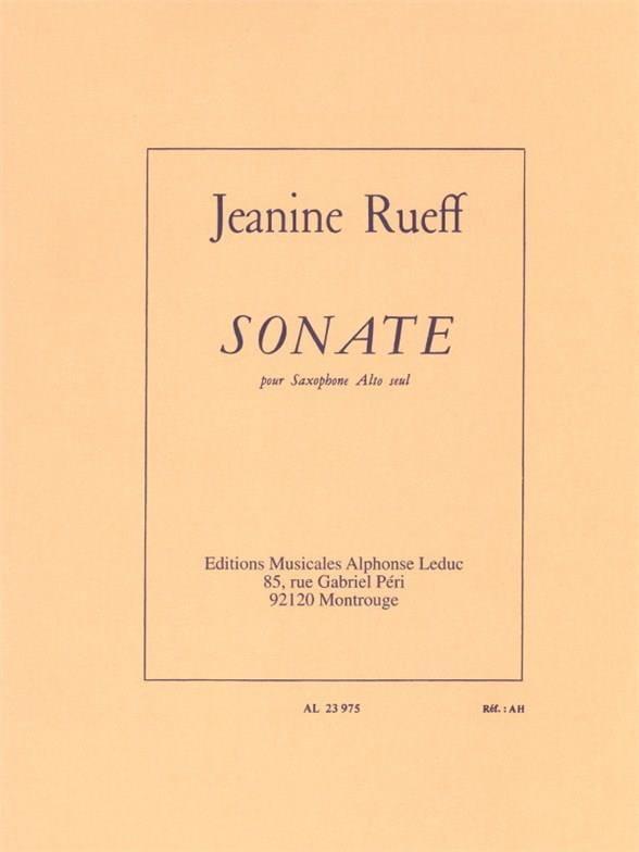 Sonate - Jeanine Rueff - Partition - Saxophone - laflutedepan.com