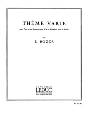 Thème Varié Eugène Bozza Partition Tuba - laflutedepan