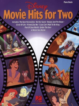 Disney movie hits for two DISNEY Partition Piano - laflutedepan