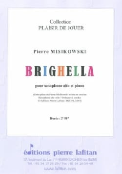 Brighella Pierre Misikowski Partition Saxophone - laflutedepan