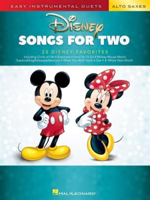 Disney Songs for Two - Sax Alto DISNEY Partition laflutedepan