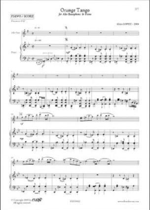 Orange Tango - Alain Lopez - Partition - Saxophone - laflutedepan.com