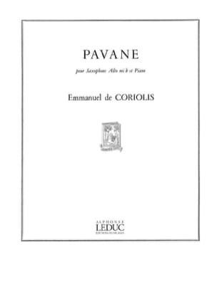 Pavane Emmanuel De Coriolis Partition Saxophone - laflutedepan