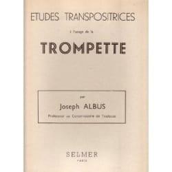 Etudes Transpositrices Joseph Albus Partition Trompette - laflutedepan