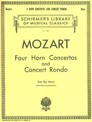 Four Horn Concertos And Concert Rondo MOZART Partition laflutedepan