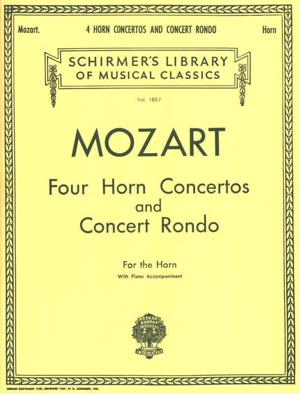 Four Horn Concertos And Concert Rondo - MOZART - laflutedepan.com