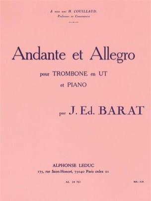 Andante Et Allegro Joseph Eduard Barat Partition laflutedepan