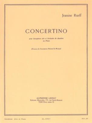 Concertino Opus 17 Jeanine Rueff Partition Saxophone - laflutedepan