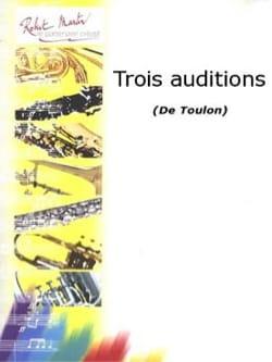 3 Auditions Jacques Toulon Partition Trombone - laflutedepan