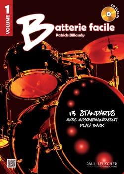 Batterie facile Volume 1 Partition Batterie - laflutedepan