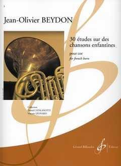 30 Etudes Sur des Chansons Enfantines Jean-Olivier Beydon laflutedepan
