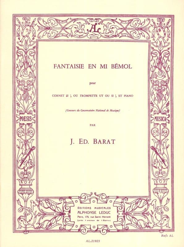 Fantaisie En Mi Bémol - Joseph Eduard Barat - laflutedepan.com