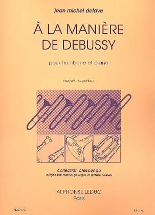 A la Manière de Debussy Jean-Michel Defaye Partition laflutedepan