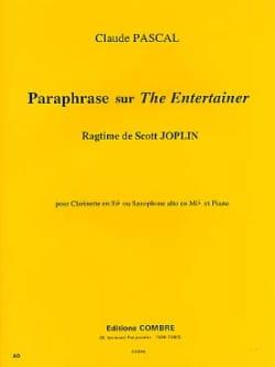 Paraphrase Sur The Entertainer Claude Pascal Partition laflutedepan