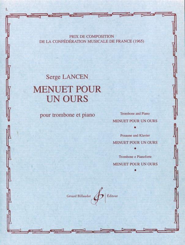 Menuet Pour Un Ours - Serge Lancen - Partition - laflutedepan.com