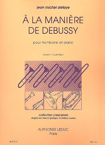 A la Manière de Debussy - Jean-Michel Defaye - laflutedepan.com