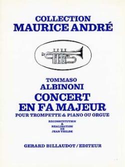 Concert En Fa Majeur ALBINONI Partition Trompette - laflutedepan