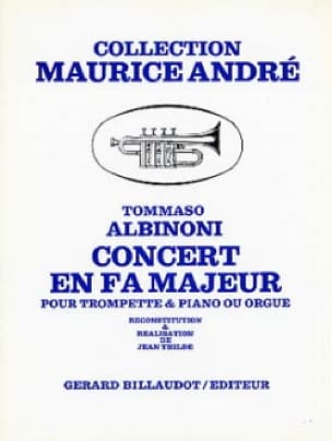 Concert En Fa Majeur - ALBINONI - Partition - laflutedepan.com