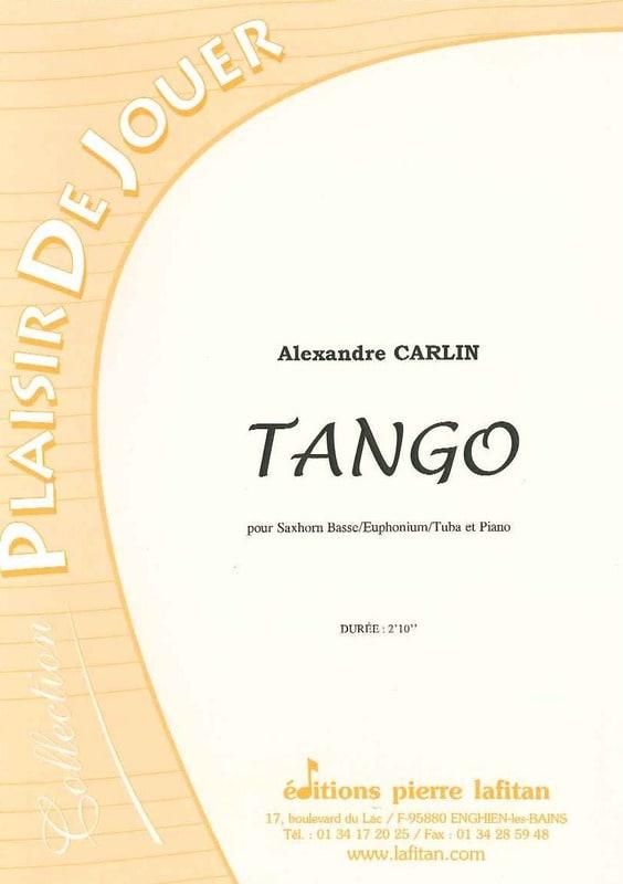 Tango - Alexandre Carlin - Partition - Tuba - laflutedepan.com