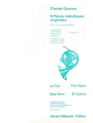 6 Pièces Mélodiques Originales Volume 1 GOUNOD Partition laflutedepan