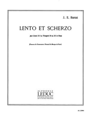 Lento Et Scherzo Joseph Eduard Barat Partition laflutedepan