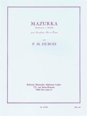 Mazurka Pierre-Max Dubois Partition Saxophone - laflutedepan