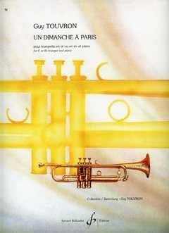Un Dimanche à Paris Guy Touvron Partition Trompette - laflutedepan
