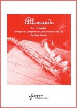 Allemande HAENDEL Partition Saxophone - laflutedepan