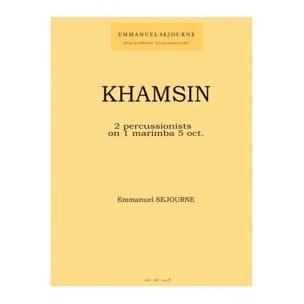 Khamsin Emmanuel Séjourné Partition laflutedepan
