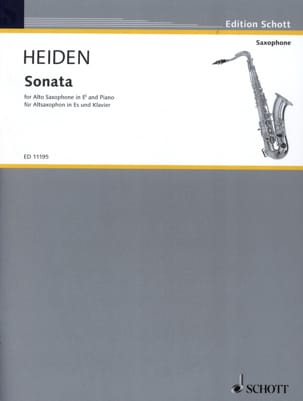 Sonata Bernhard Heiden Partition Saxophone - laflutedepan