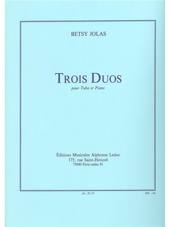 3 Duos - Betsy Jolas - Partition - Tuba - laflutedepan.com