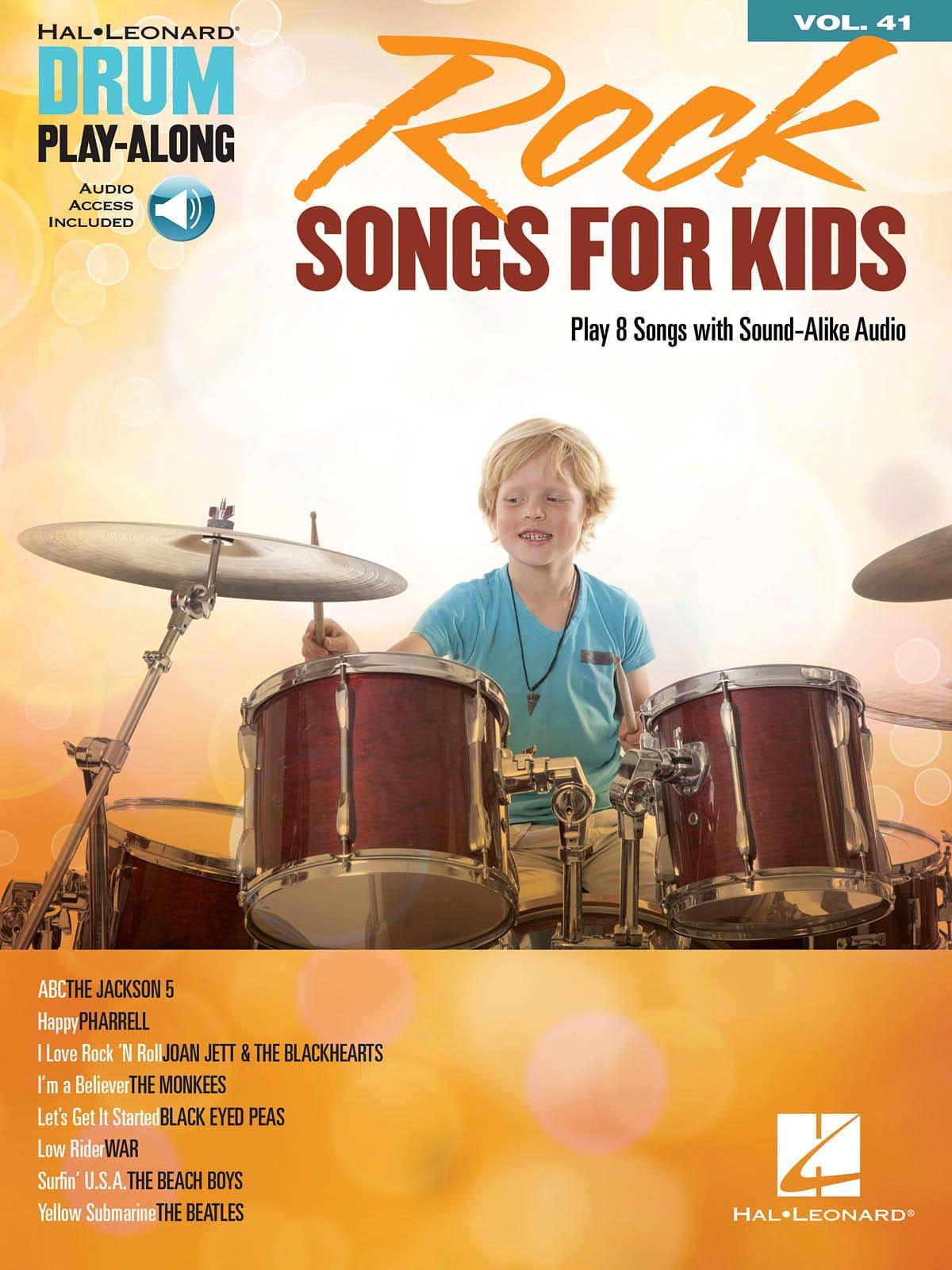 Drum Play-Along Volume 41 - Rock Songs for Kids - laflutedepan.com