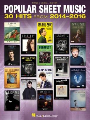 Popular Sheet Music - 30 Hits from 2014 - 2016 laflutedepan