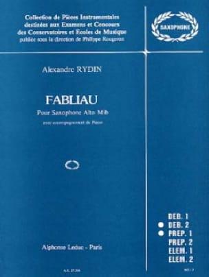 Fabliau - Rydin - Partition - Saxophone - laflutedepan.com