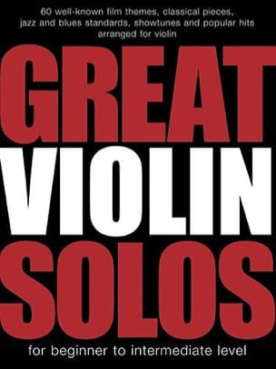Great Violin Solos Partition Violon - laflutedepan