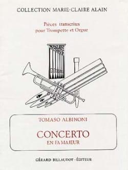 Concerto En Fa Majeur ALBINONI Partition Trompette - laflutedepan