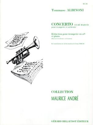 Concerto En Ré Majeur ALBINONI Partition Trompette - laflutedepan