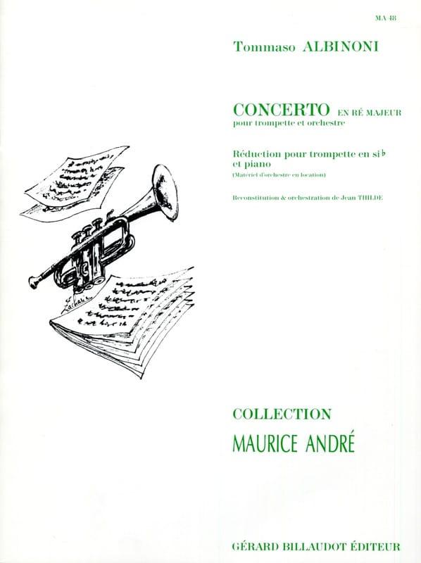 Concerto En Ré Majeur - ALBINONI - Partition - laflutedepan.com