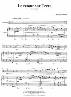 Le retour sur terre Philippe Durand Partition Trombone - laflutedepan