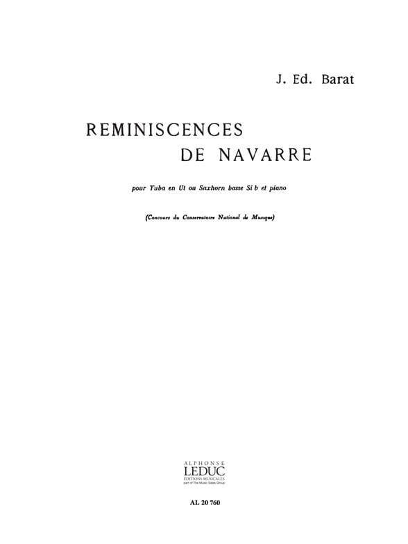 Reminiscences de Navarre - Joseph Eduard Barat - laflutedepan.com