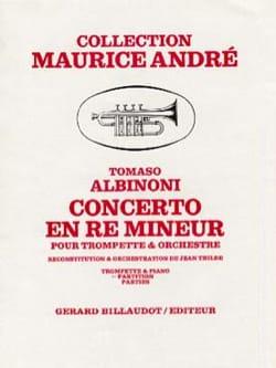 Concerto en Ré Mineur ALBINONI Partition Trompette - laflutedepan