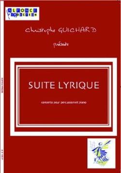 Suite Lyrique Christophe Guichard Partition laflutedepan