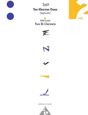 Ten Klezmer Duos Sephardic Volume 2 Mike Curtis Partition laflutedepan