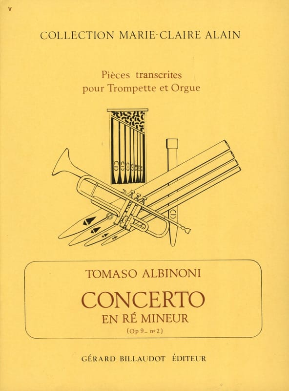 Concerto En Ré Mineur Opus 9 N° 2 - ALBINONI - laflutedepan.com