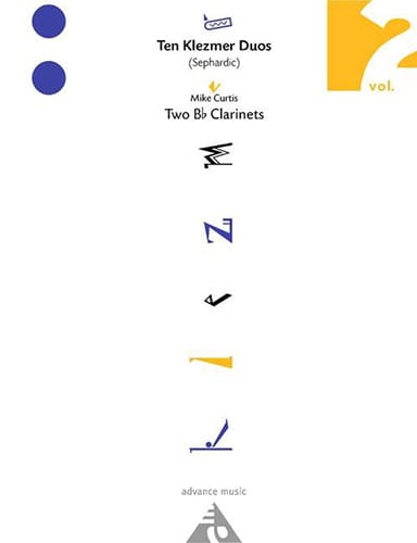 Ten Klezmer Duos Sephardic Volume 2 - Mike Curtis - laflutedepan.com