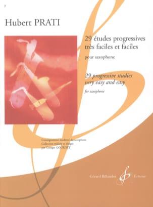29 Etudes Progressives Hubert Prati Partition Saxophone - laflutedepan