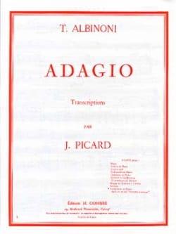 Adagio ALBINONI Partition Saxophone - laflutedepan