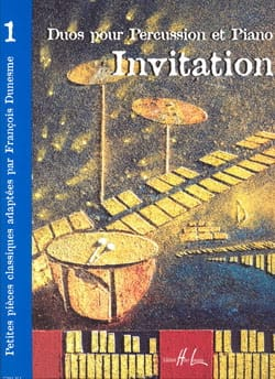 Invitation Volume 1 Partition Multi Percussions - laflutedepan